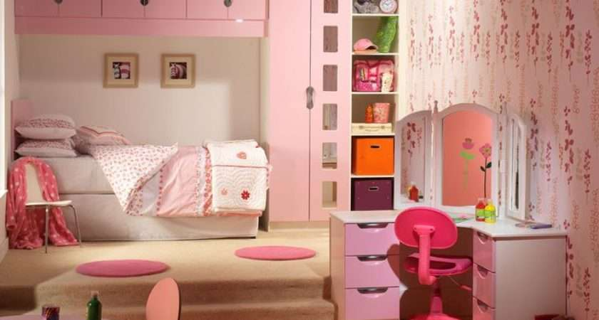Fitted Bedroom Finished Pink White Gloss Starplan Bedrooms