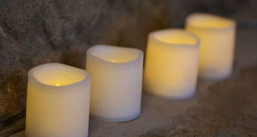 Flameless Battery Powered Led Votive Candles Pack