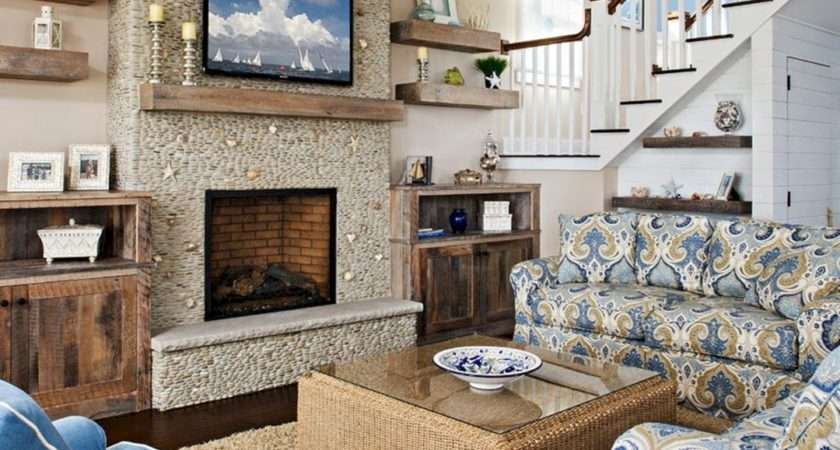Floating Shelf Next Fireplace Spaces