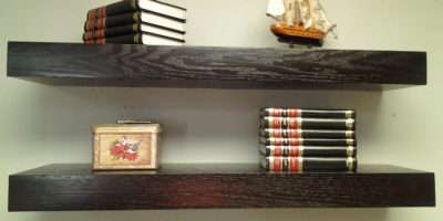 Floating Shelves Oak Wood Espresso Color Mrselecta