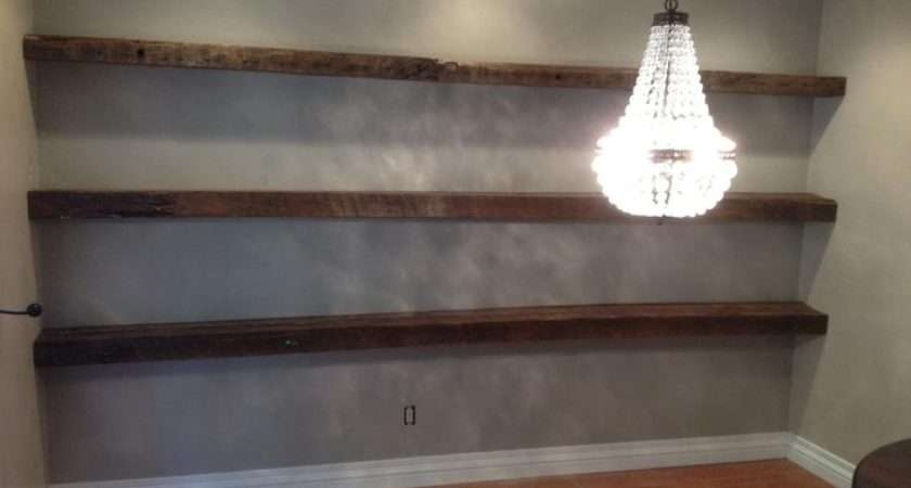 Floating Shelves Porterbarnwood Reclaimed Wood Wall