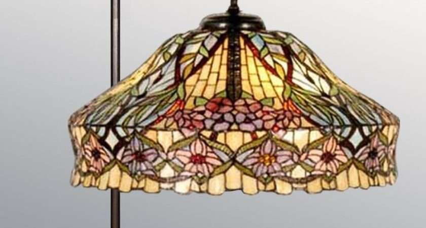 Floral Design Tiffany Style Handcrafted Floor Lamp Ebay