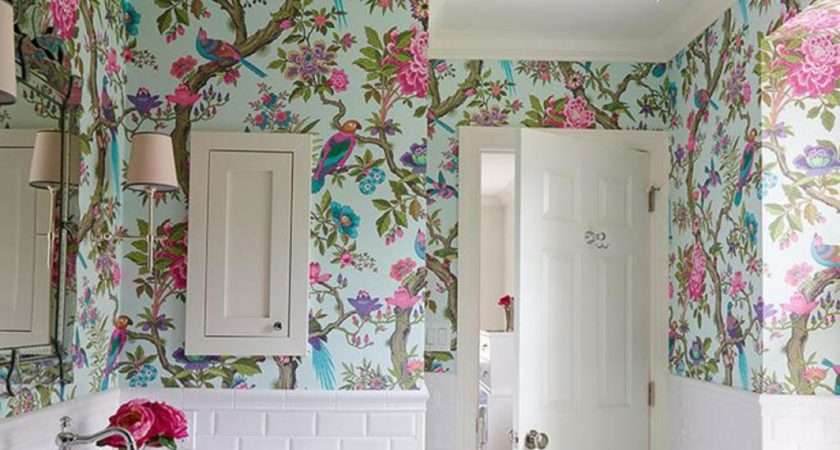 Floral Royal Bathroom Ideas Small White