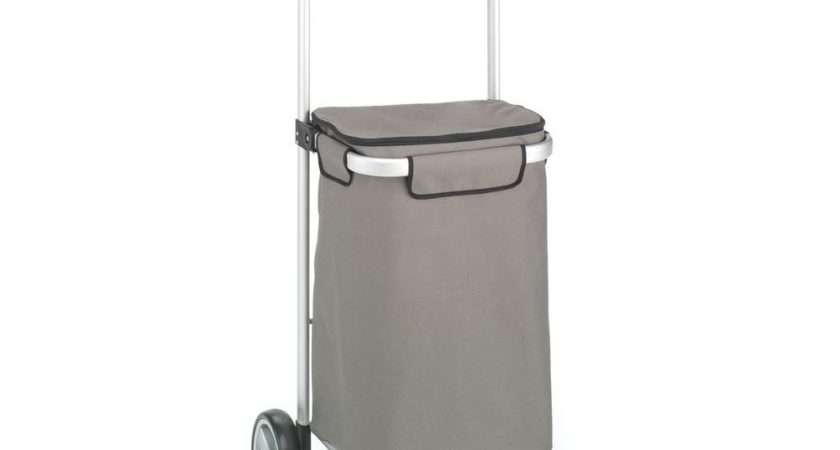 Foldable Tote Cart Shopping Trolley Folding Wheel Grocery