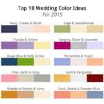 Follow Trends Wedding Colors