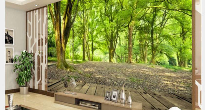 Forest Nature Wall Mural Non Woven