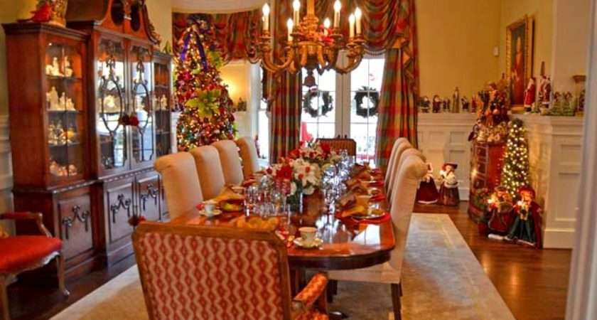 Formal Casual Dining Room Table Christmas Decoration Ideas