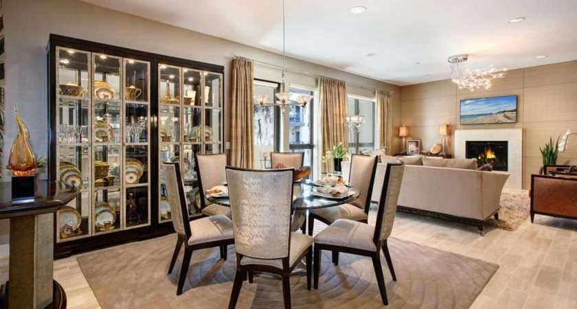 Formal Dining Room Built China Cabinet Glass Encasement