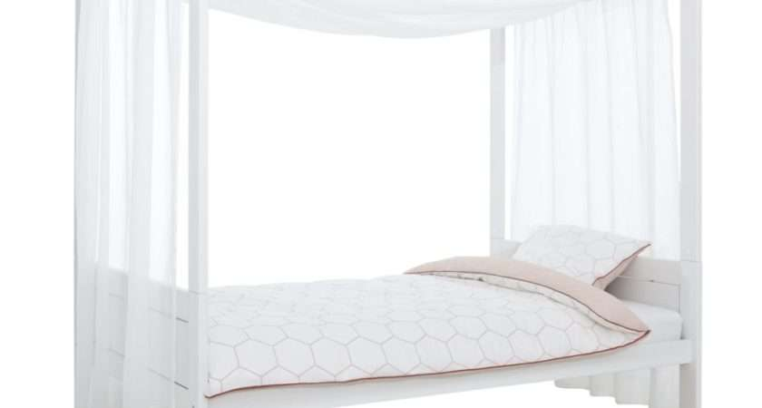 Four Poster Bed Canopy White Children