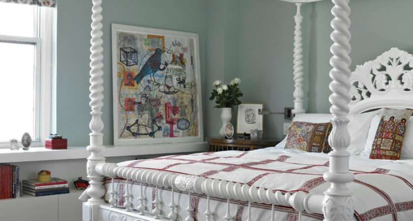 Four Poster Twin Bed Bedroom Contemporary White
