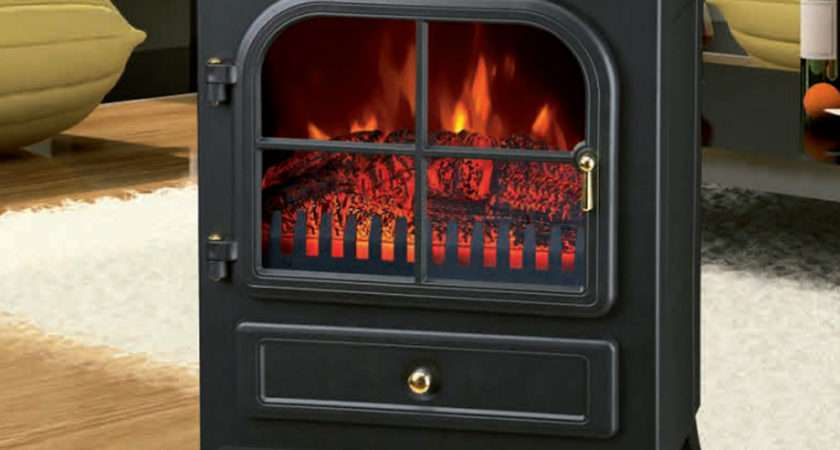 Freestanding Electric Fireplace Home Heater Fire