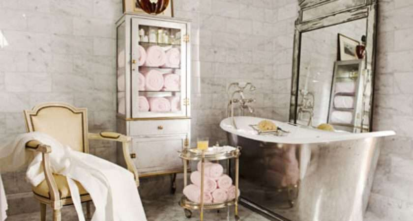 French Bathroom Style Decor House Beautiful