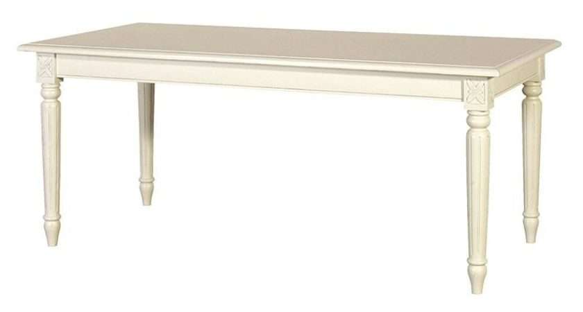 French Chic Dining Table Cream Rathwood