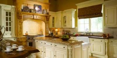 French Country Kitchen Warm Color Tones Expansive