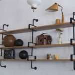 French Iron Oak Wall Shelves Sale Stdibs