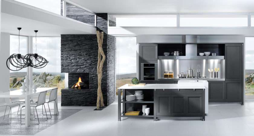 French Kitchen Designs Perene Grey White Design