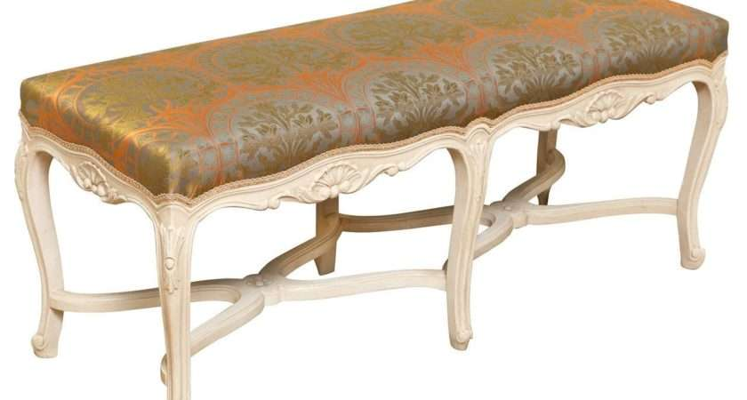 French Louis Style White Painted Bench Stdibs