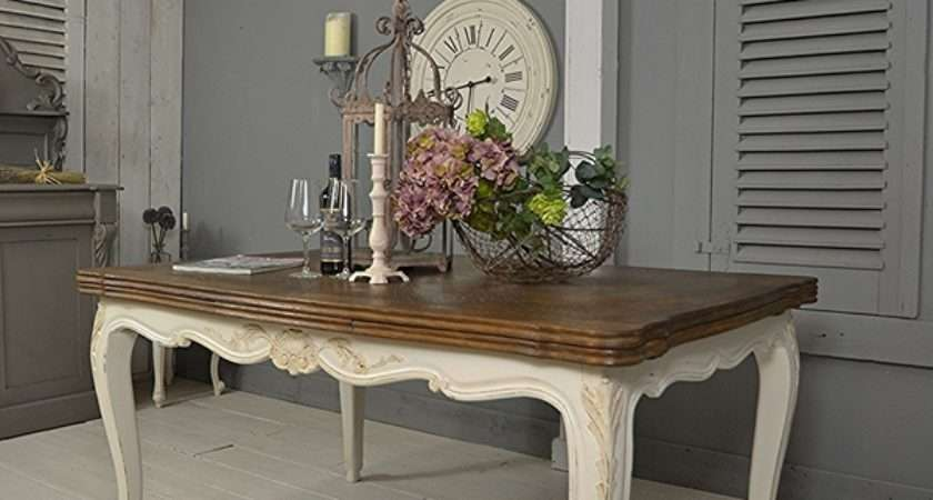 French Shabby Chic Extending Dining Table Tables