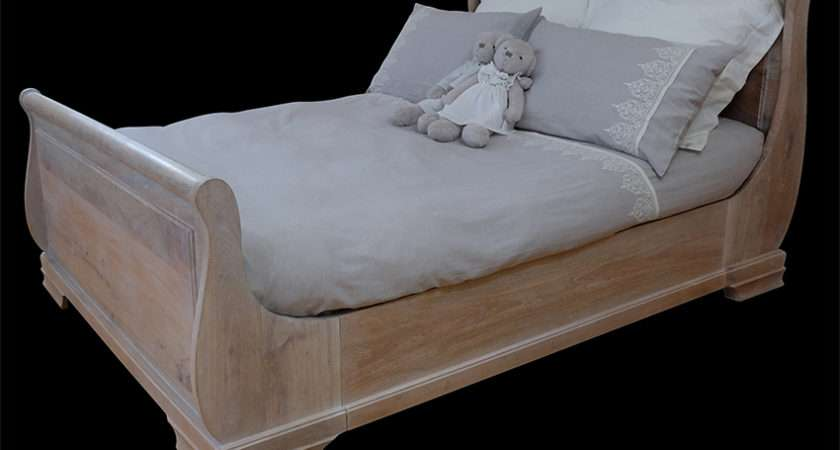 French Sleigh Bed King Scumble Goosie