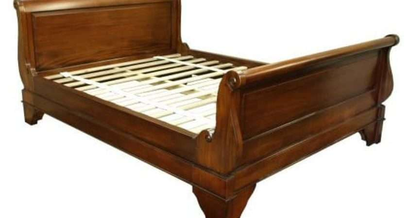 French Sleigh Bed Single Panel Akd Furniture