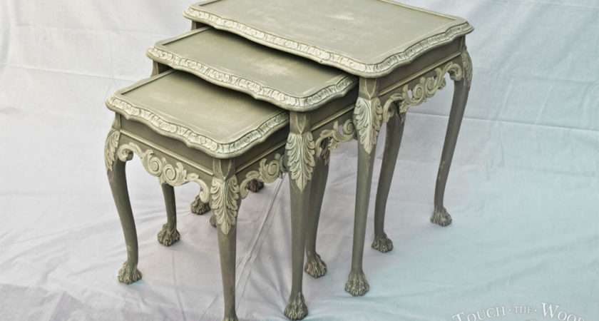 French Style Shabby Chic Nest Tables Touch Wood