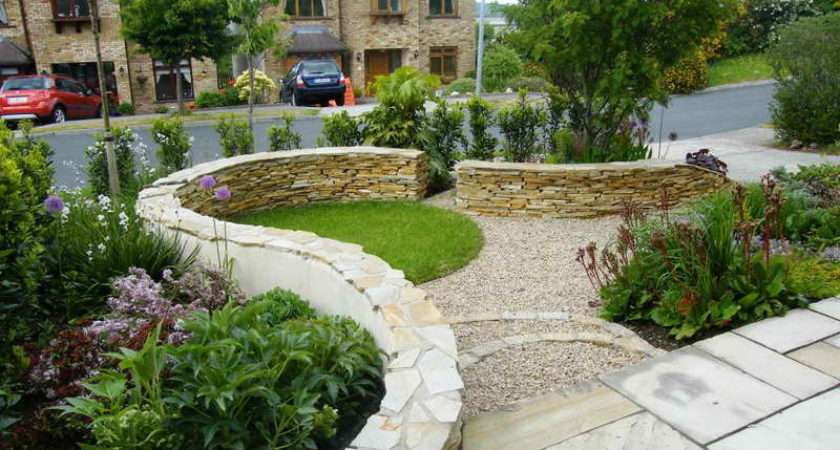 Front Garden Design Ideas Stone Wall
