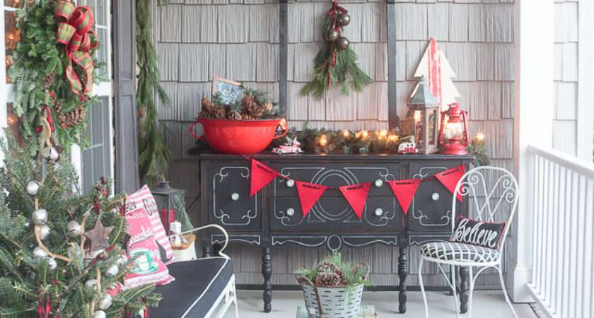 Front Porch Decorating Ideas Want Copy Christmas
