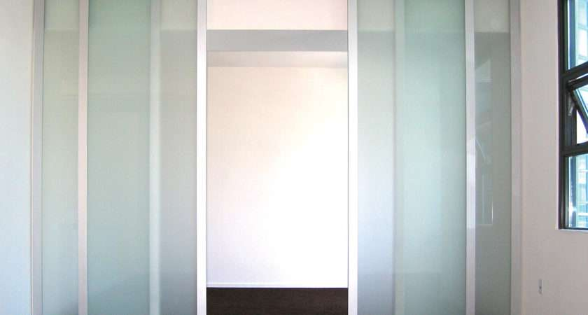 Frosted Glass Room Divider Double