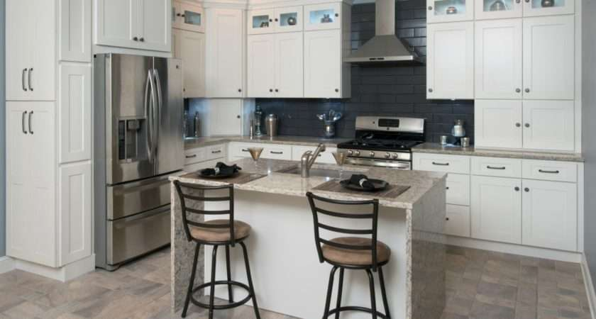 Frosted White Shaker Ready Assemble Kitchen Cabinets