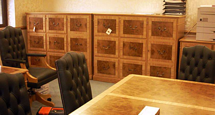 Fully Bespoke Filing Cabinets Were Built Buy Leading
