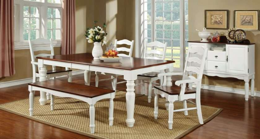 Furniture America Primrose Country Dining Table