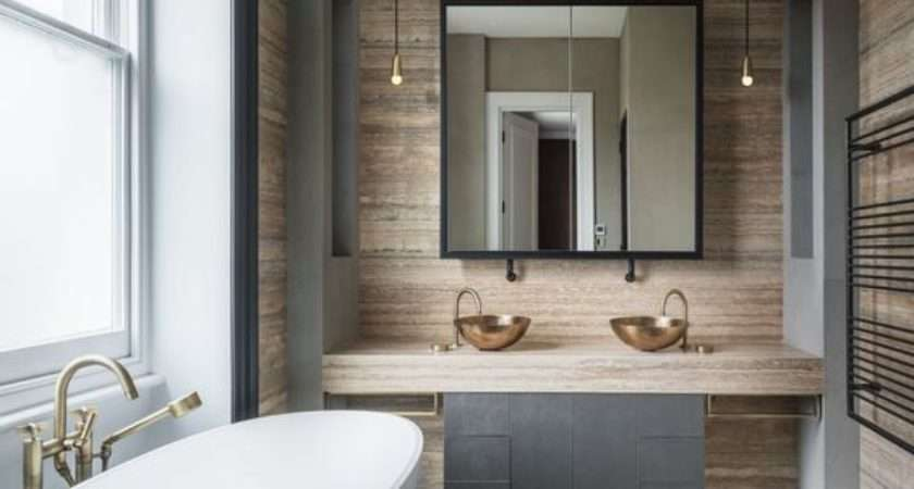 Furniture Trendy Chic Industrial Bathroom Vanity