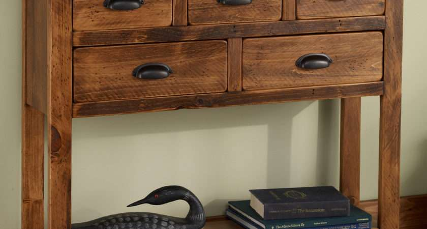 Furniture Wooden Rustic Hallway Console Foyer Tables