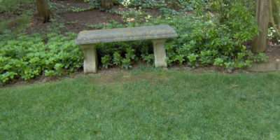 Furniture Youself Cement Concrete Garden Bench Outdoor