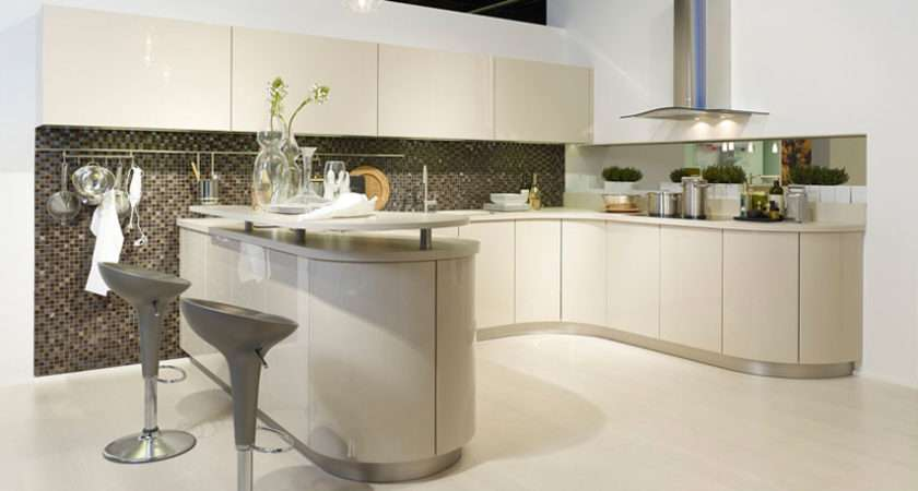 Gala Gloss Curved Kitchen Shaped Units