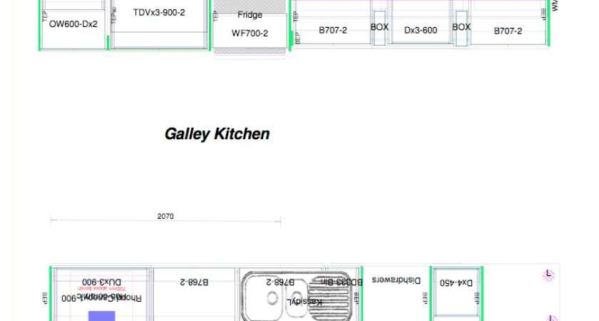 Galley Kitchen Plan Layout