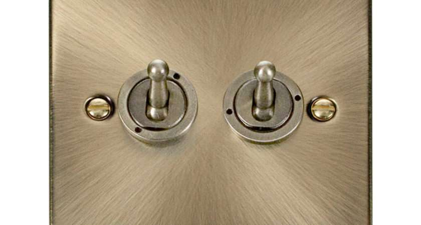 Gang Way Toggle Light Switch Antique Brass Sparkydirect