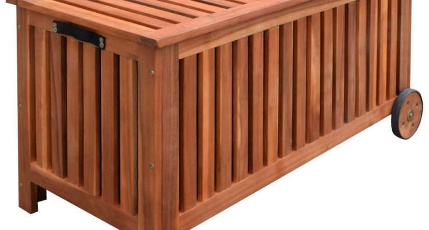 Garden Cushion Box Outdoor Patio Wooden Portable Storage