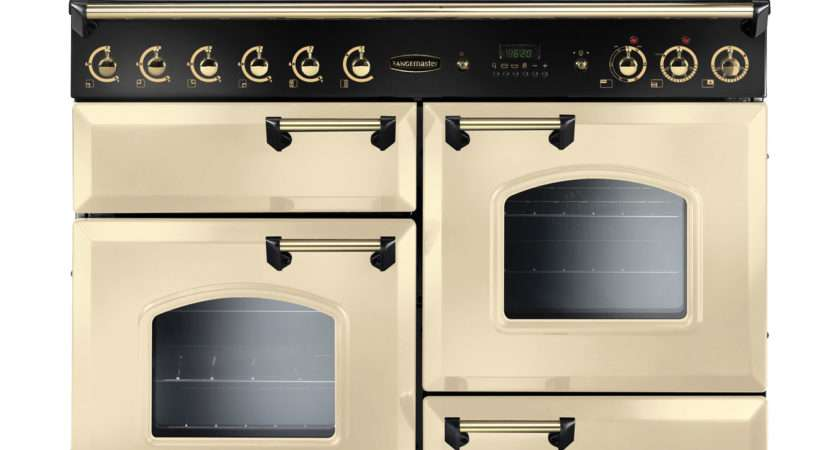 Gas Fsd Clas Ngfcr Freestanding Range Cooker Cream Brass