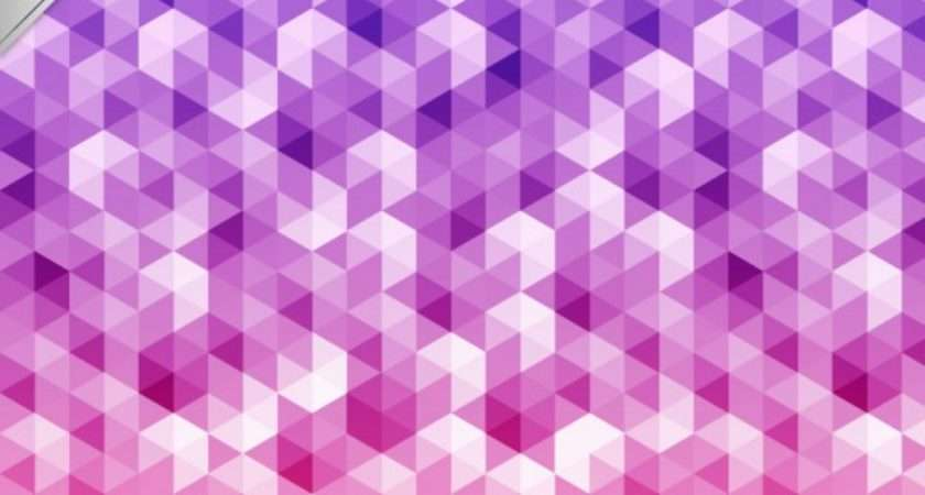 Geometric Pattern Pink Purple Tones Vector