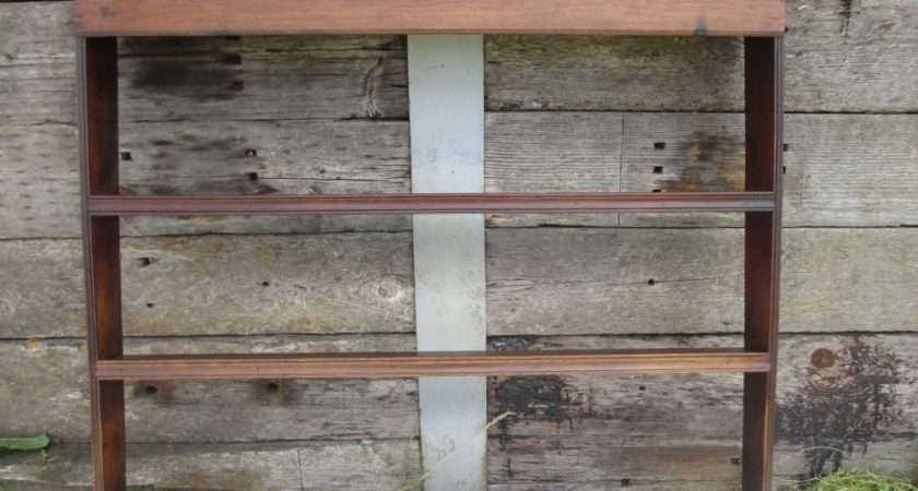 Georgian Oak Wall Hanging Plate Rack Shelves Has Been Added