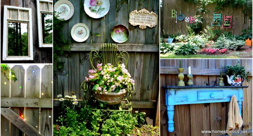 Get Creative These Fence Decorating Ideas