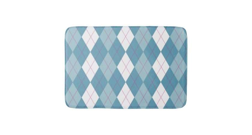 Girl Next Door Argyle Bath Mat Zazzle