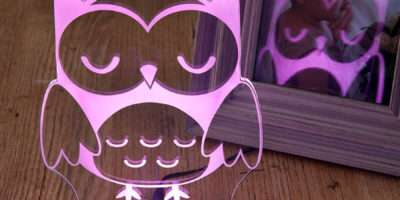 Girls Boys Remote Controlled Owl Night Light