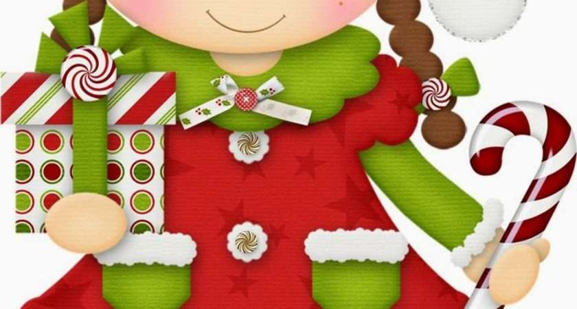 Girls Celebrating Christmas Clip Art Fiesta