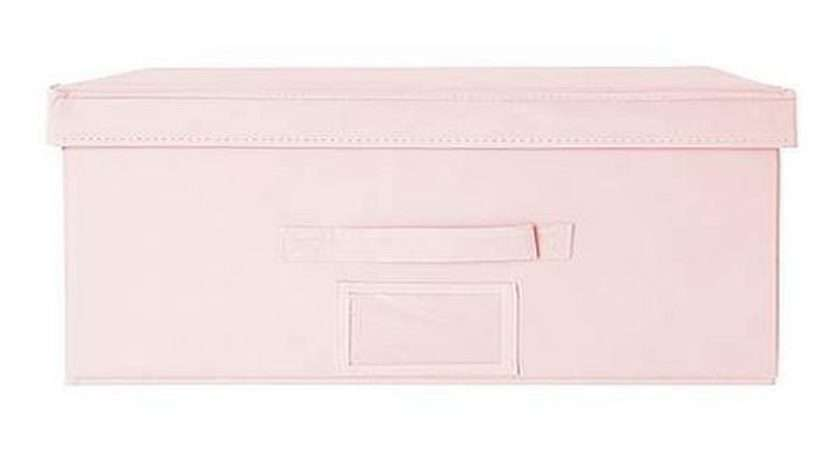 Girls Pink Underbed Toy Storage Box Carry Case
