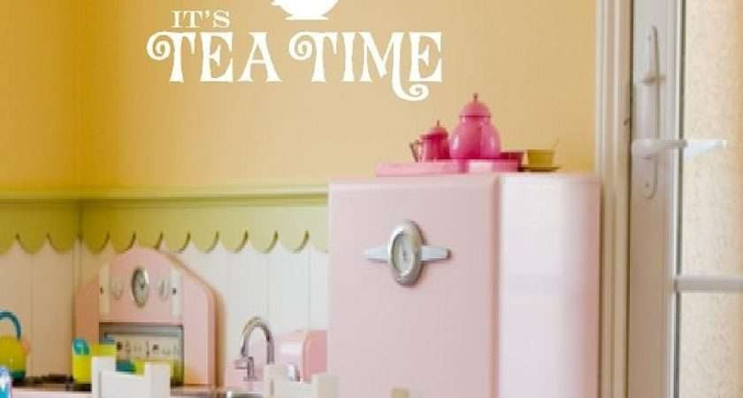 Girls Wall Decals Its Tea Time Playroom Openheartcreations
