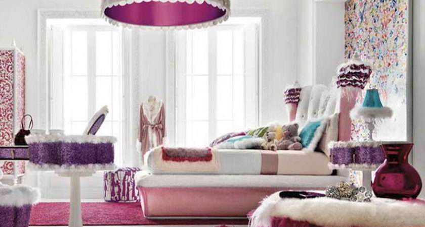 Girly Bedroom Colorful Bedrooms Girl Room Paint Ideas Decorating