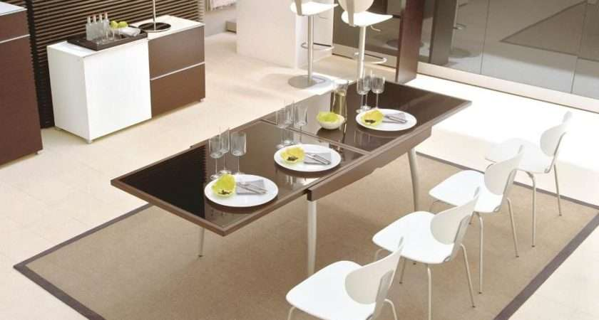 Glass Expandable Dining Table Small Spaces Colour