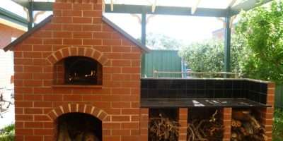 Glass Factory Firebricks Were Used Building Oven